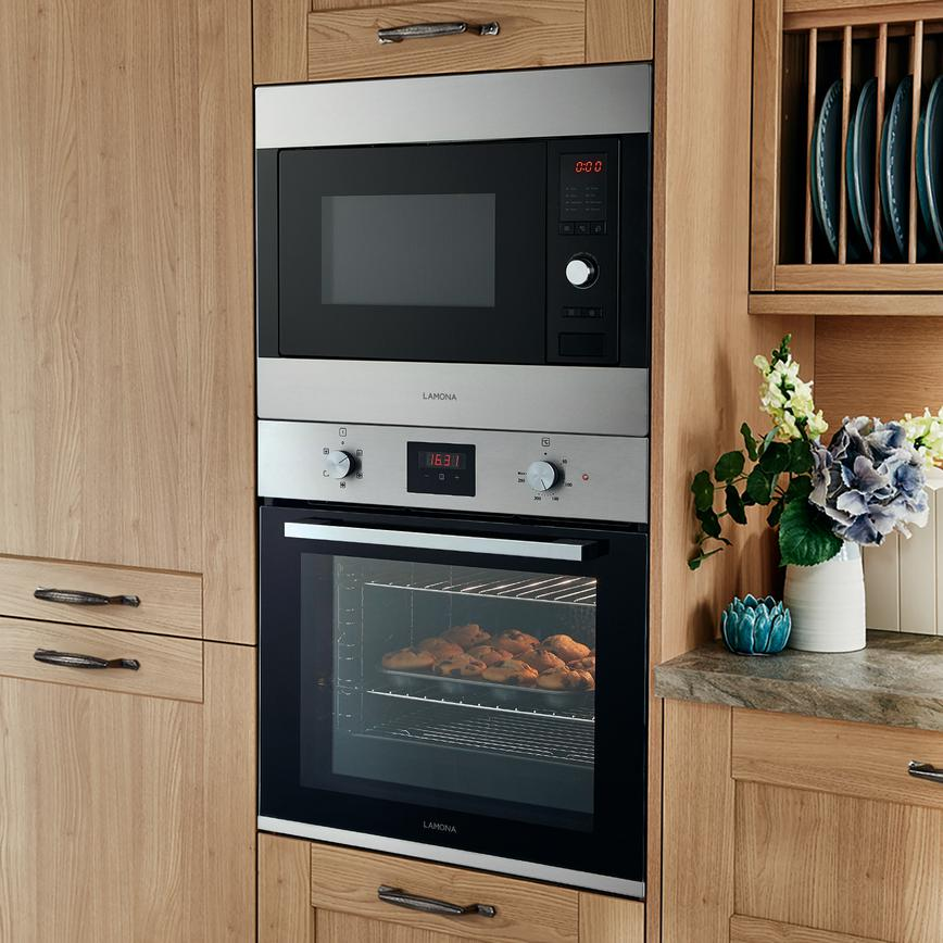 Lamona Lam7150 Built In 60cm Stainless Steel Microwave With