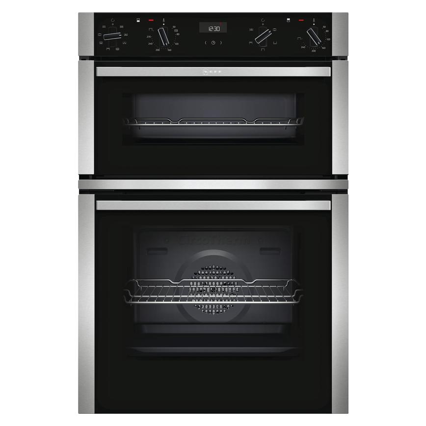 Neff U1ACE2HN0B Built In Electric 60cm Stainless Steel Double Oven
