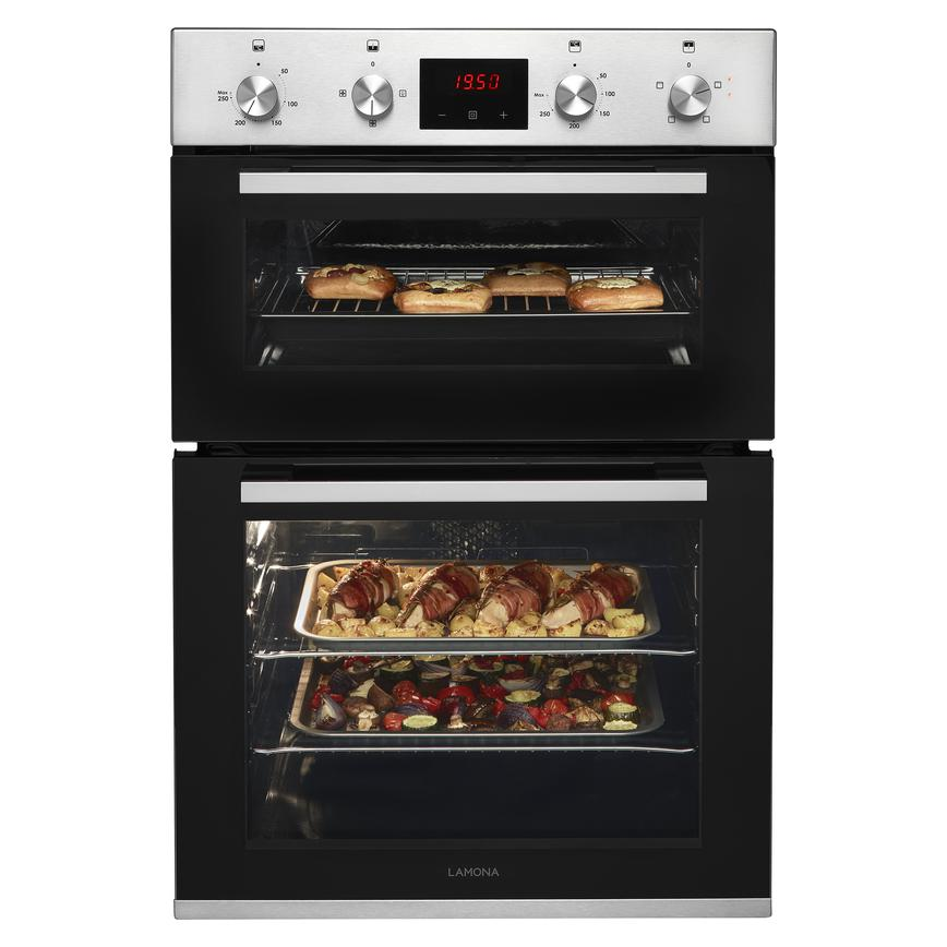 Lamona LAM4603 Built In Electric 60cm Stainless Steel Double Oven