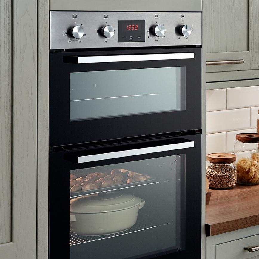 Lamona Double Fan Oven Stainless Steel Howdens Joinery