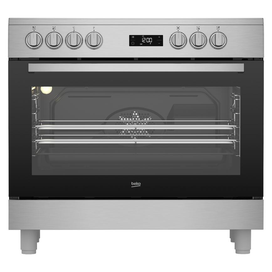 Beko freestanding range cooker with ceramic hob