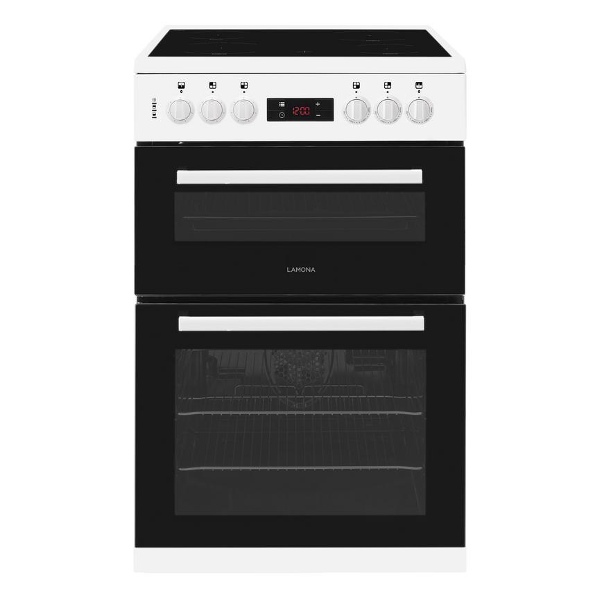 Lamona FLM5400 Freestanding Electric Conventional 60cm White Double Cavity Cooker
