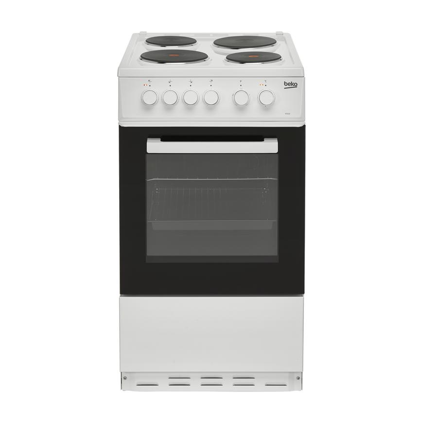 FBQ5401 Beko_Cooker_BS530W_White_Frontclosed