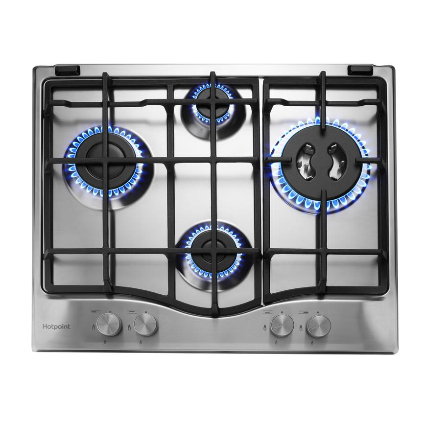 Hotpoint PCN 641 T/IX/H 60cm Stainless Steel Gas Hob