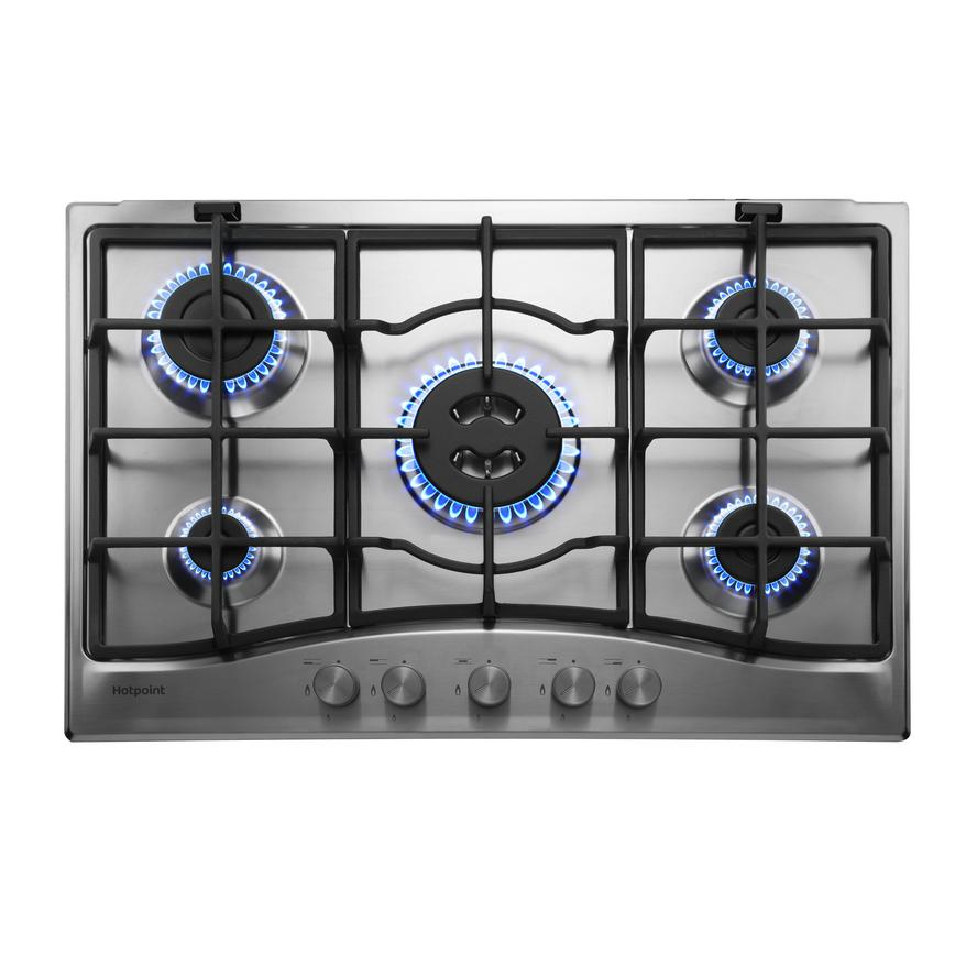 Hotpoint PCN751T/IX/H 75cm Stainless Steel Gas Hob