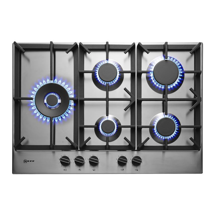 Neff T27DS79N0 75cm Stainless Steel Gas Hob
