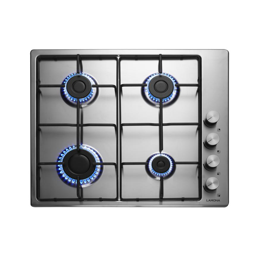 Lamona LAM1008 60cm Stainless Steel Gas Hob