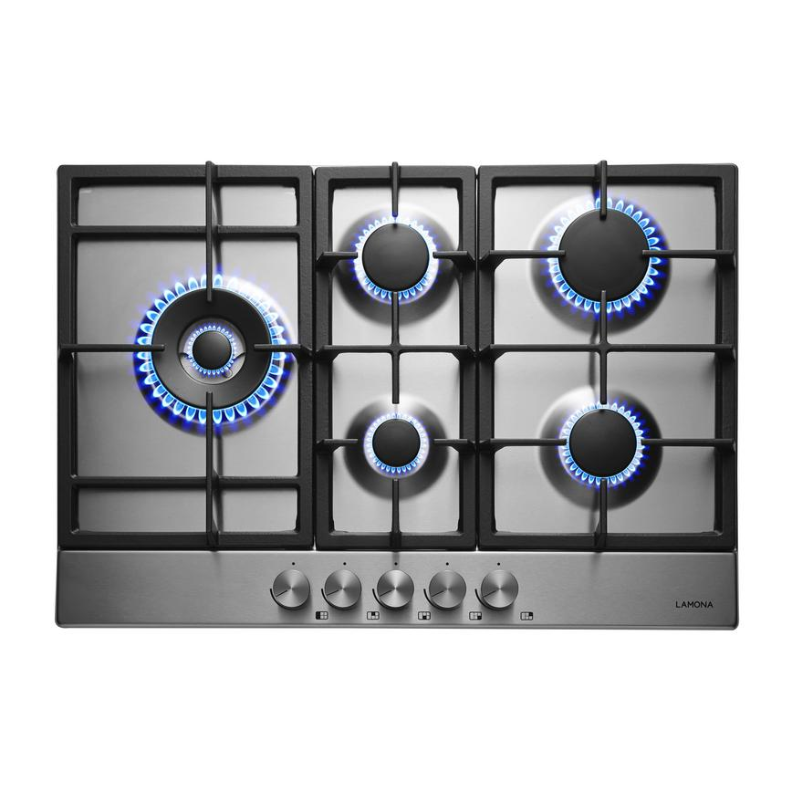 Lamona LAM1111 75cm Stainless Steel Gas Hob