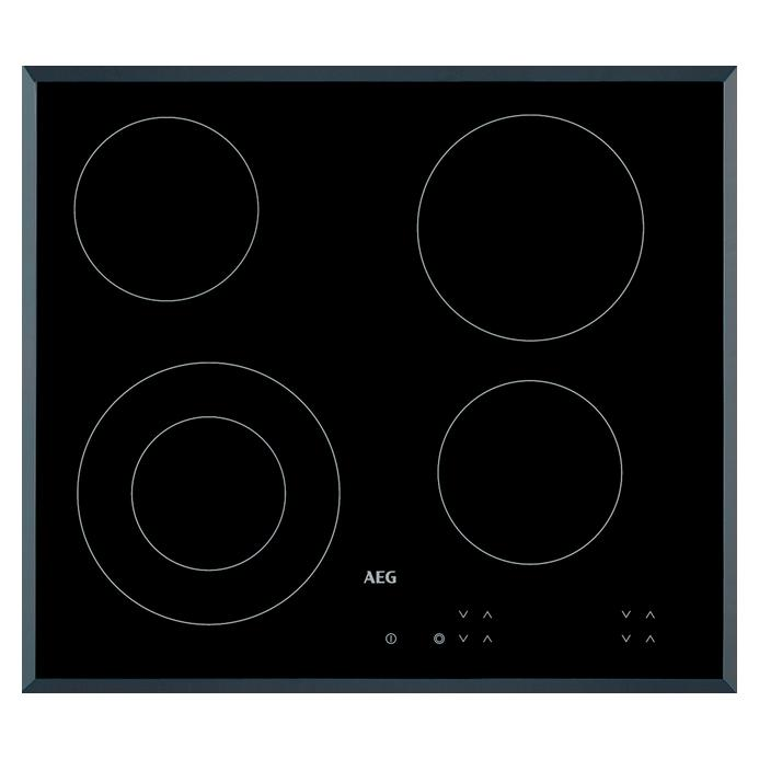 AEG HK624010FB 60cm Black Electric Ceramic Hob