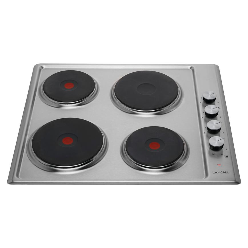 Lamona LAM1216 60cm Stainless Steel Electric Solid Plate Hob