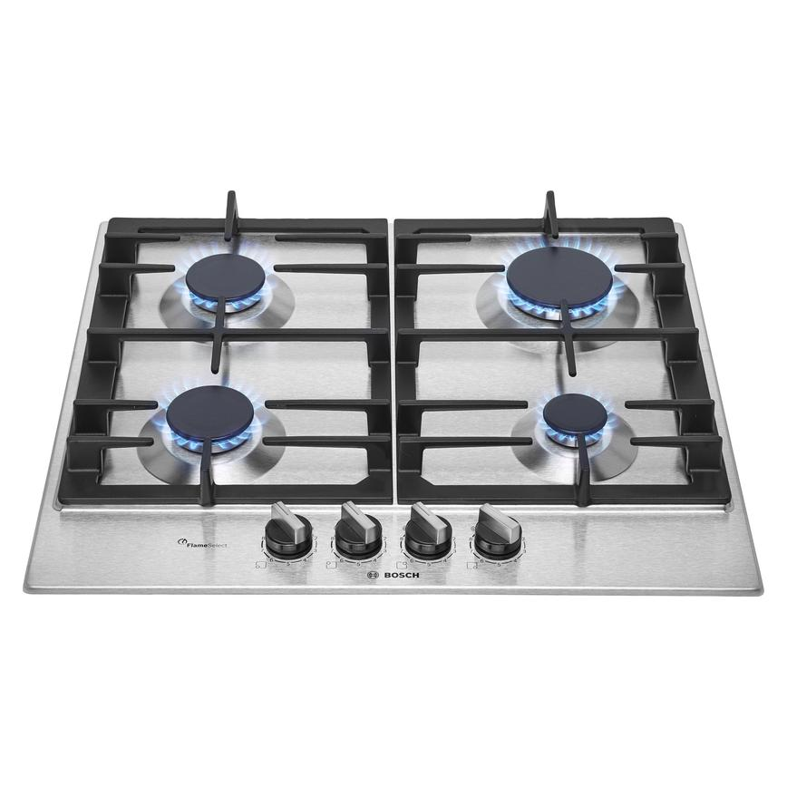 Bosch PCP6A5B90 60cm Stainless Steel Gas Hob