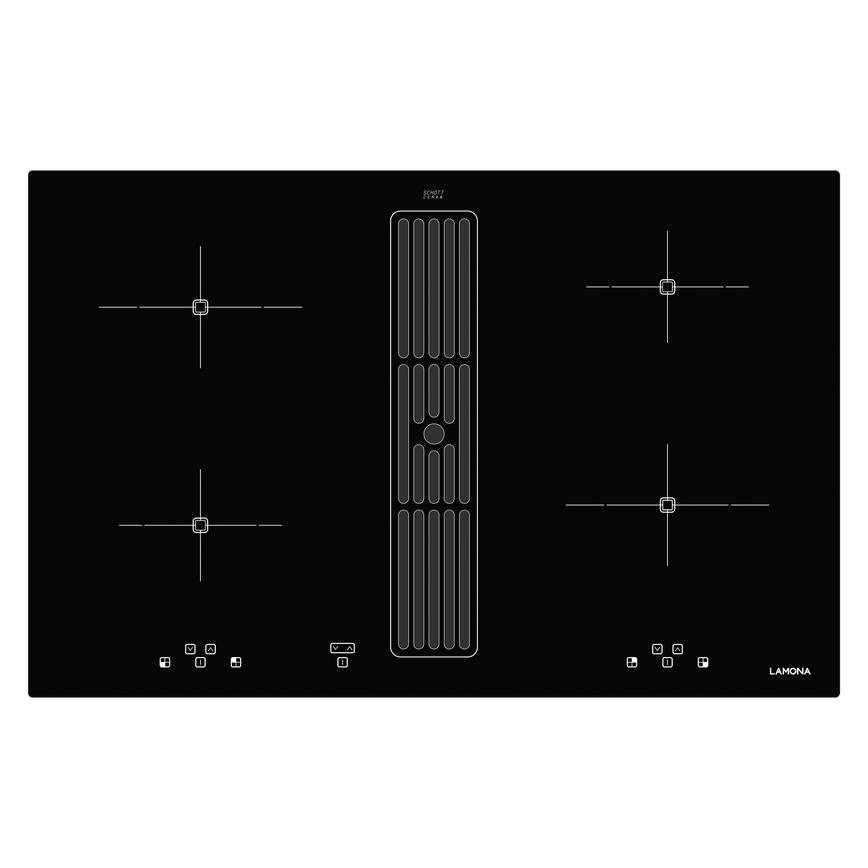 Lamona LAM9500 80cm Black Electric Induction Hob With Extractor