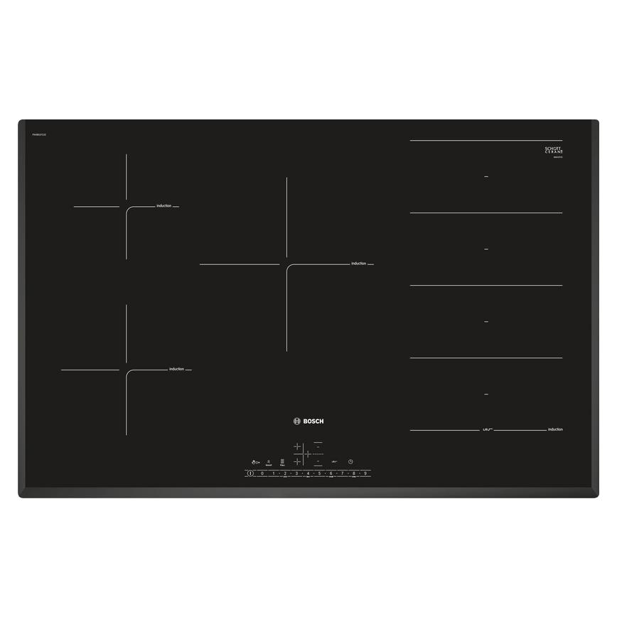 Bosch PXV851FC1E Serie 6 80cm Black Induction Hob