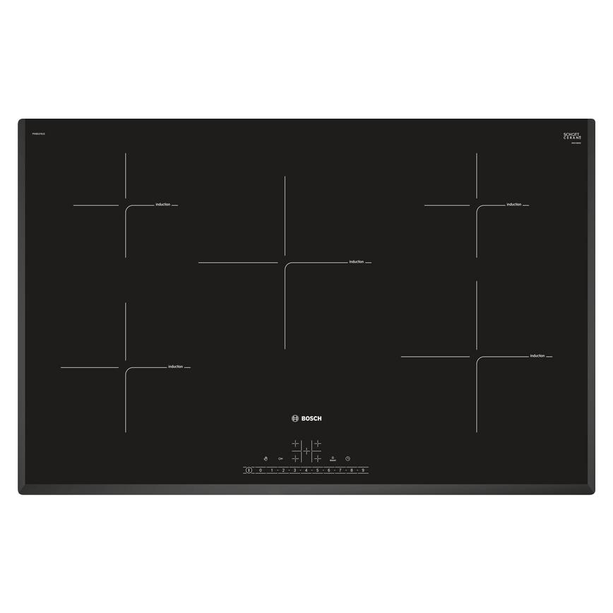 Bosch PIV851FB1E 80cm Black Electric Induction Hob