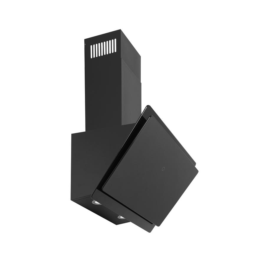 HJA2700 60cm Black Chimney Cooker Hood