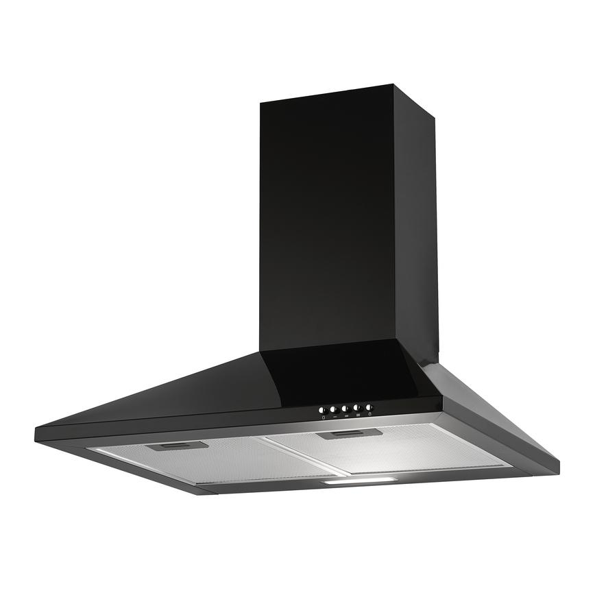 Lamona LAM2411 60cm Black Chimney Cooker Hood