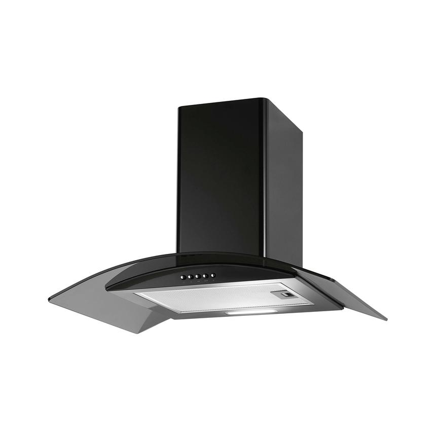 Lamona LAM2507 60cm Black Chimney Cooker Hood