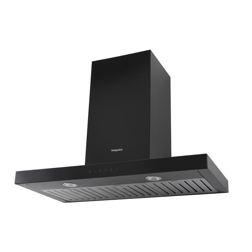 Hotpoint PHBS9.8CLTDK 90cm Black Chimney Cooker Hood