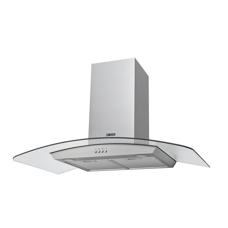 Zanussi ZHC92352X 90cm Stainless Steel Chimney Cooker Hood