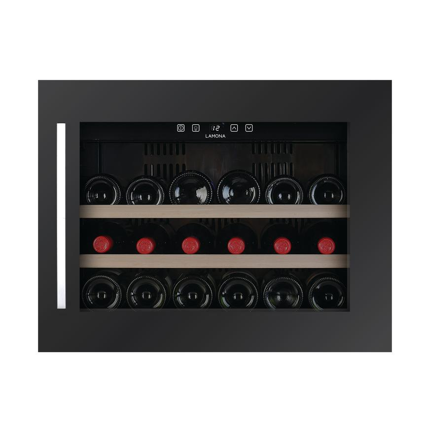 Lamona LAM6975 Integrated Grey 18 Bottle Wine Cooler