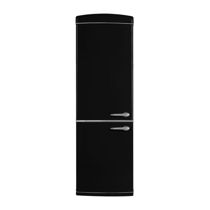 Lamona F/S Matte Black LH Fridge Freezer Door Closed