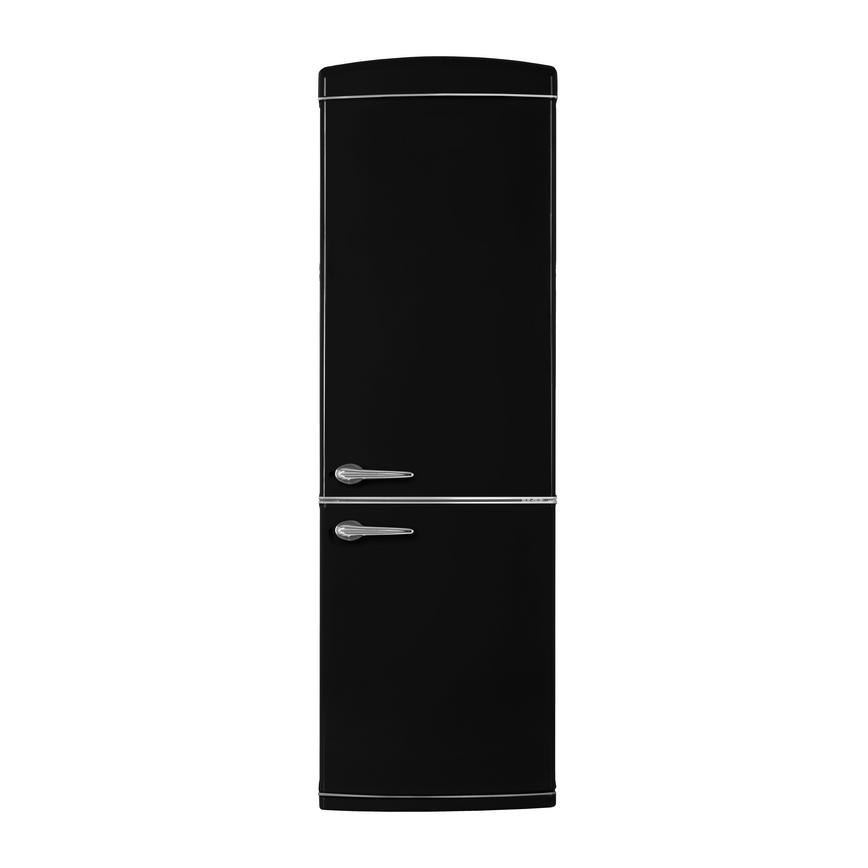 Matt Black retro fridge freezer