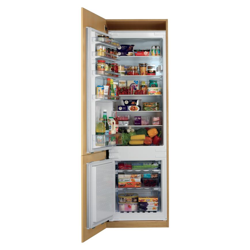 Bosch KIV38X22GB Integrated 70/30 White Fridge Freezer with Beech Shelf
