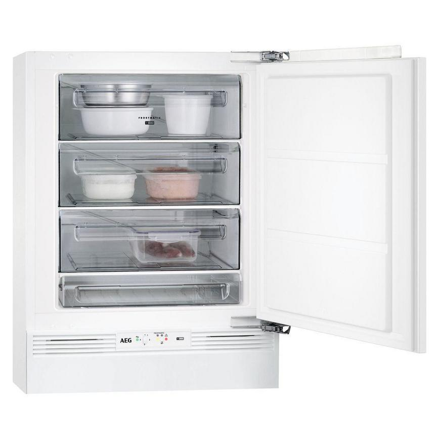 AEG ABK6821VAF Built Under White Freezer