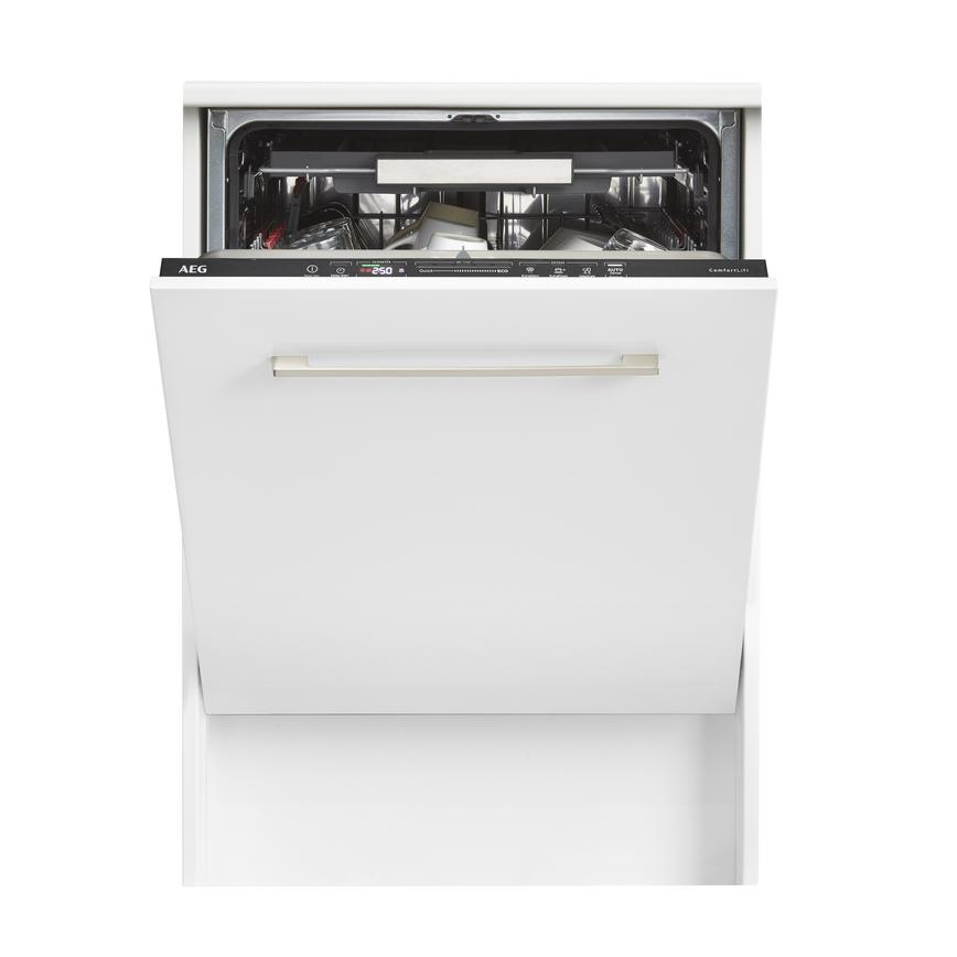 AEG FSK63807P Integrated Full Size Black Control Panel Dishwasher