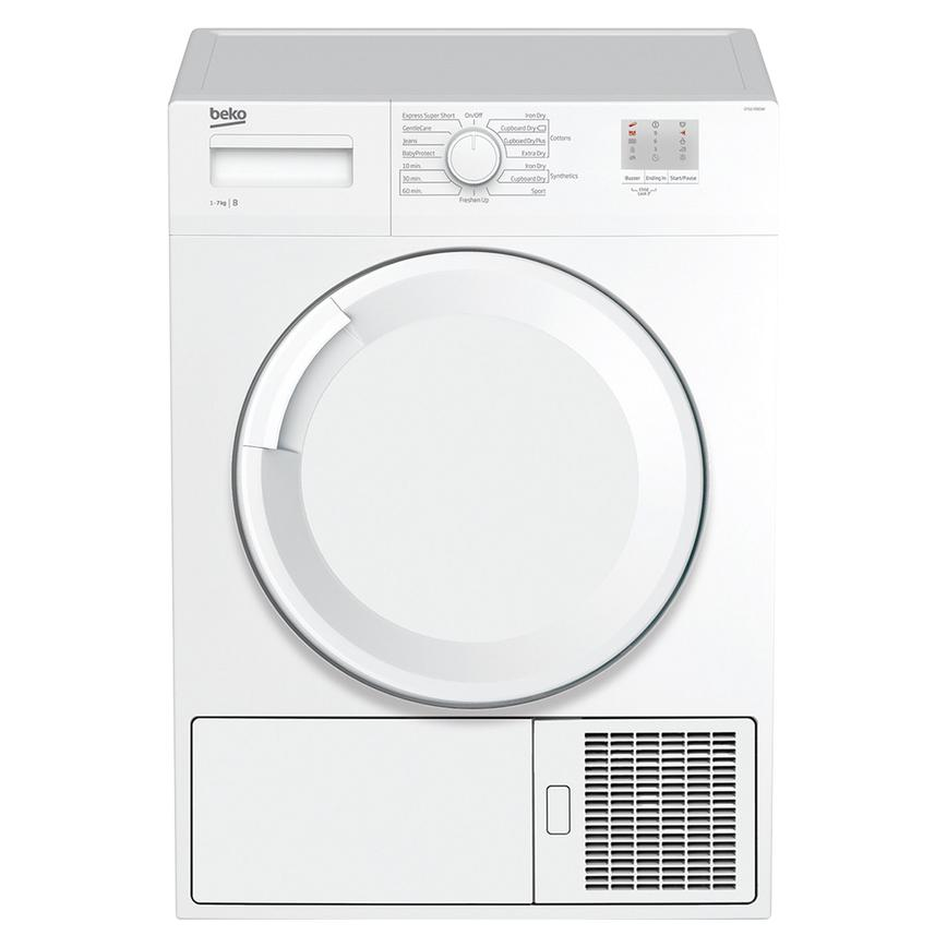 Beko DTGC7000W Freestanding 7Kg White Condenser Tumble Dryer