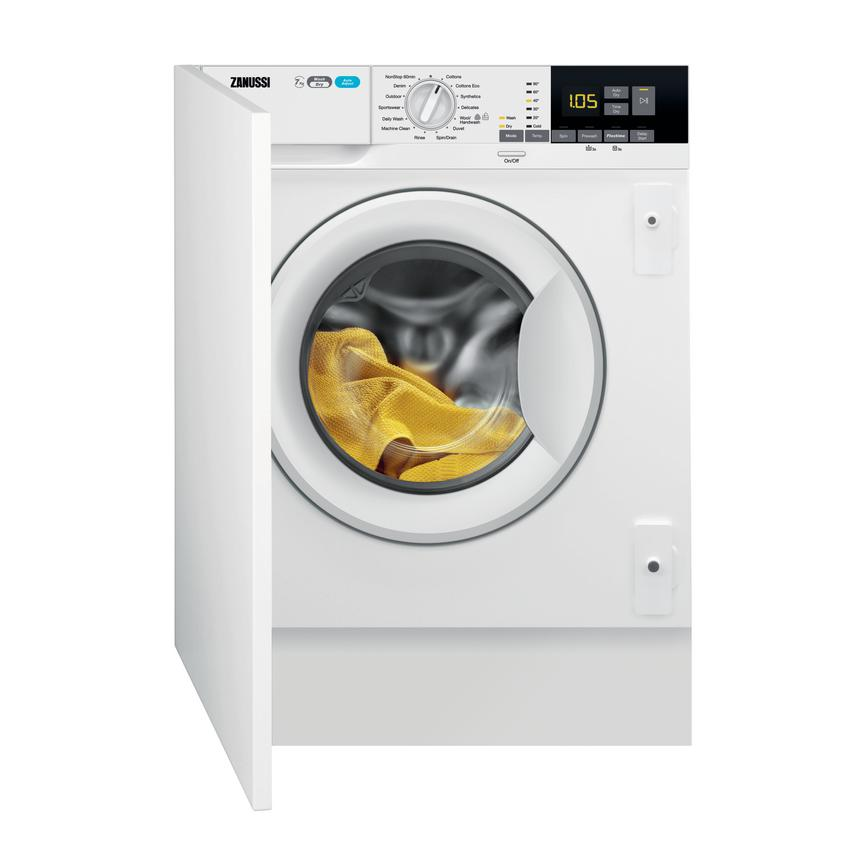 Zanussi Z716WT83BI Integrated 7Kg / 4Kg 1600rpm White Washer Dryer