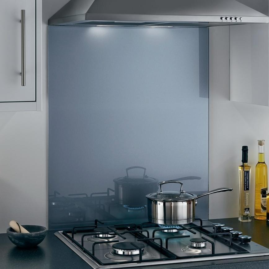 Toughened Coloured Glass Splashbacks - Pewter