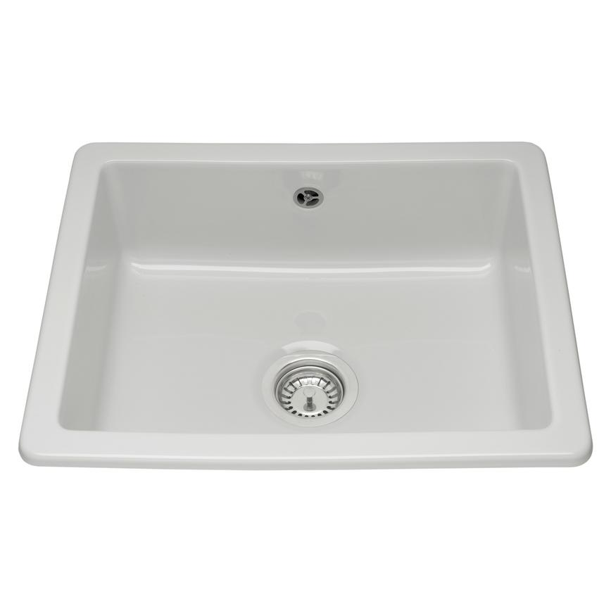 Contemporary ceramic single bowl sink
