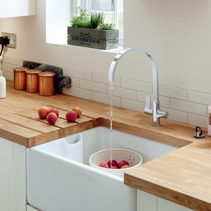 Kitchen Worktops And Sinks: Lamona Ceramic Belfast Sink