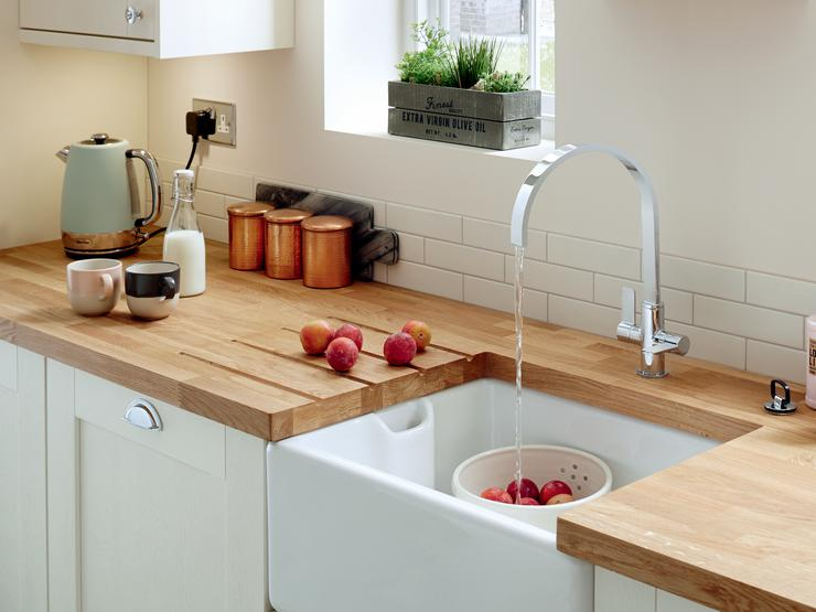 Lamona Belfast sink and Lamona Chrome Roya swan neck monobloc tap