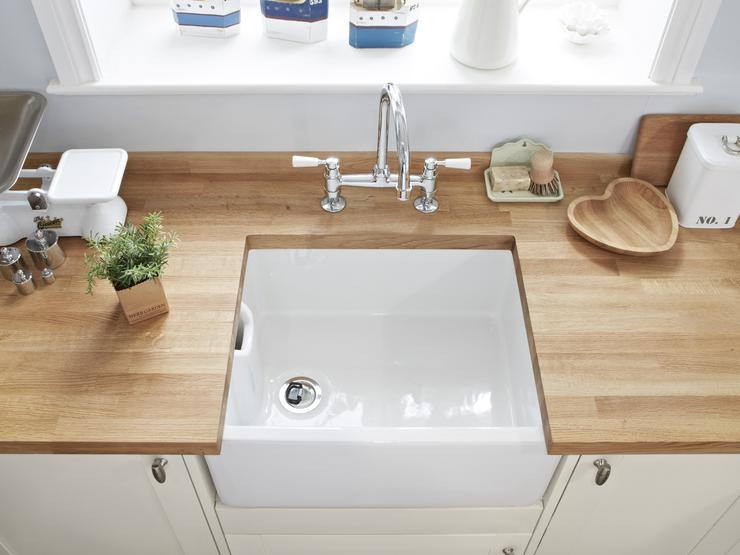 Lamona White Ceramic Belfast Sink Lifestyle