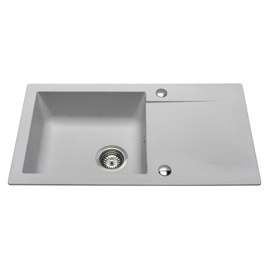 Grey Standard Composite Compact Single Bowl Sink
