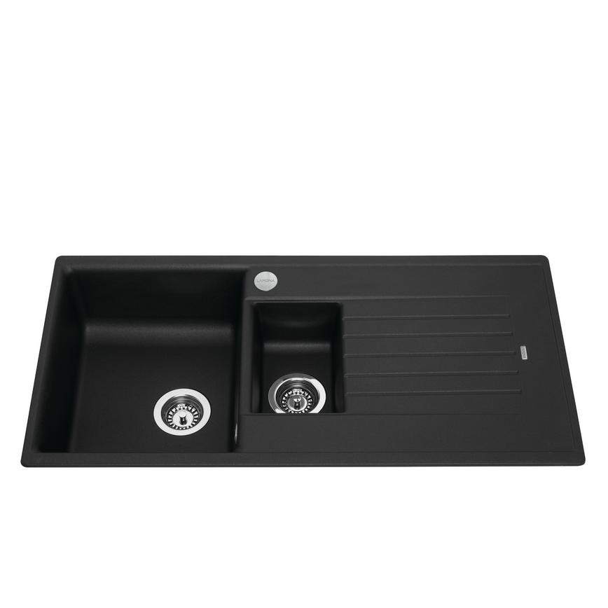 Lamona 1.5 Bowl Inset Composite Black Kitchen Sink