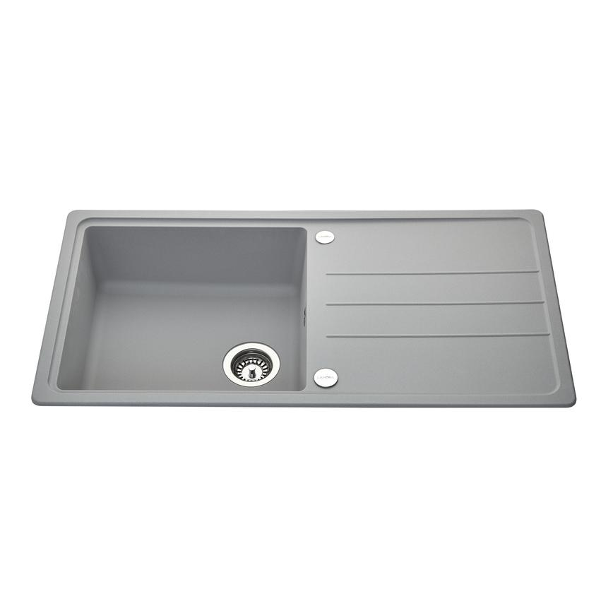 Lamona Single Bowl Inset Composite Grey Kitchen Sink