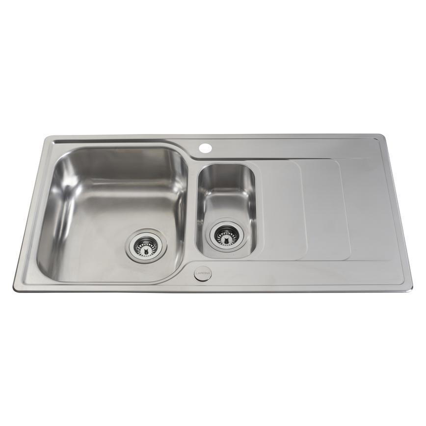 Lamona Stainless Steel Hollingworth 1.5 Bowl Sink