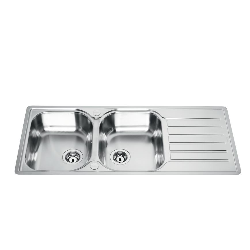 Lamona Hayeswater Double Bowl Inset Stainless Steel Kitchen Sink
