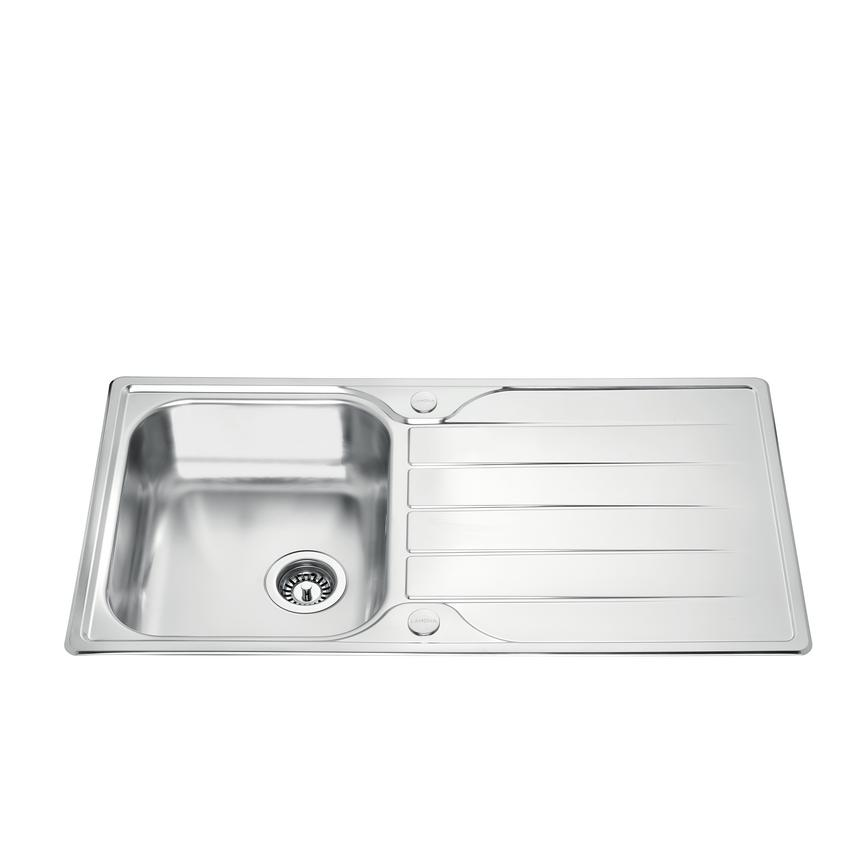 Lamona Foxcote Single Bowl Inset Stainless Steel Kitchen Sink