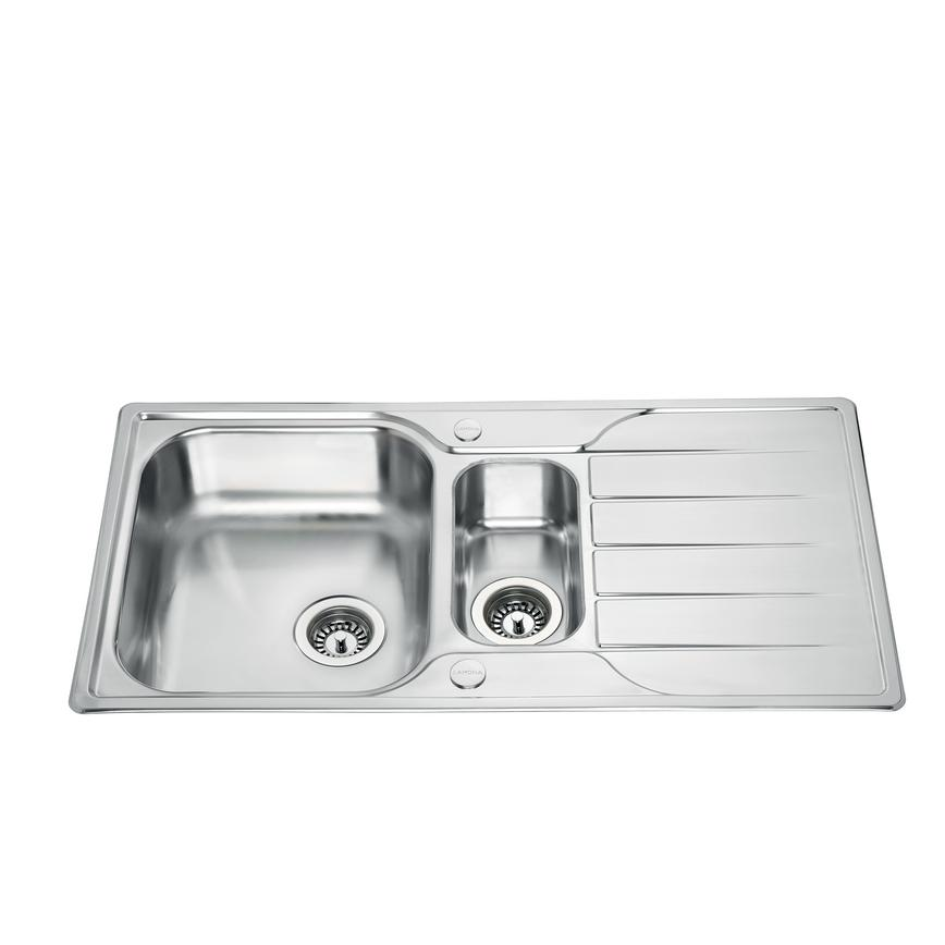 Lamona Foxcote 1.5 Bowl Inset Stainless Steel Kitchen Sink