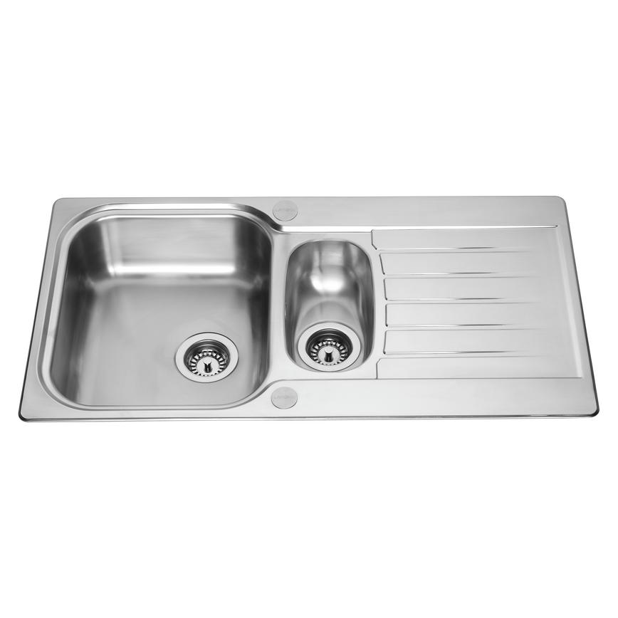 Lamona Ashworth 1.5 Bowl Inset Stainless Steel Kitchen Sink