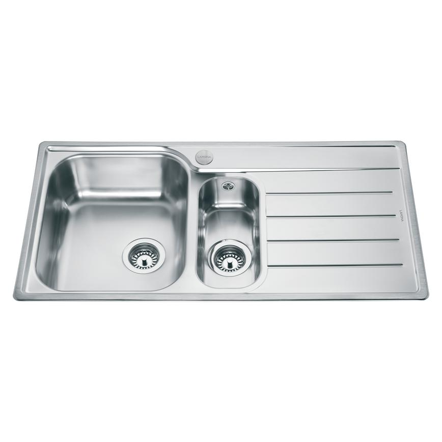 Lamona Belmont 1.5 Bowl Inset Stainless Steel Kitchen Sink