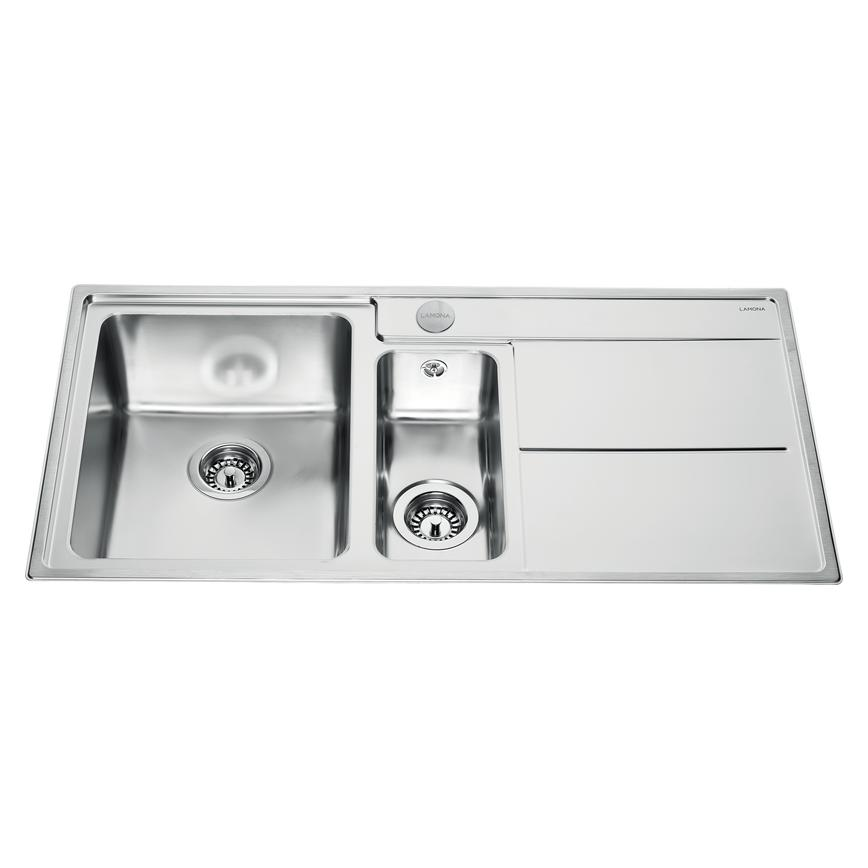 Lamona Dorney 1.5 Bowl Inset Stainless Steel Kitchen Sink