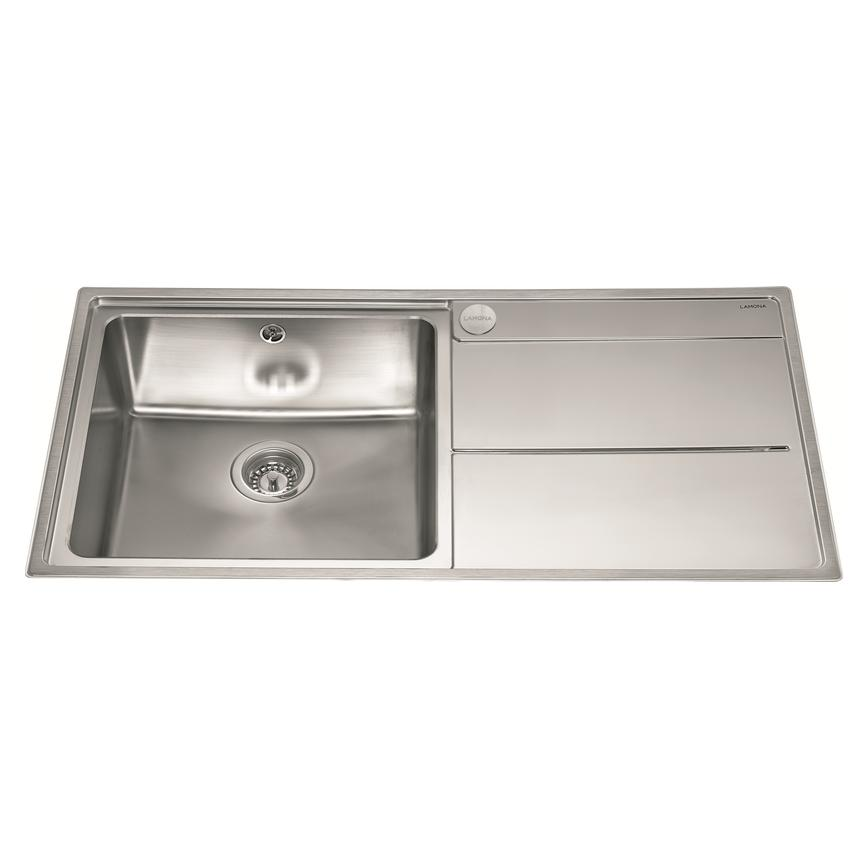 Lamona Dorney Single Bowl Inset Stainless Steel Kitchen Sink