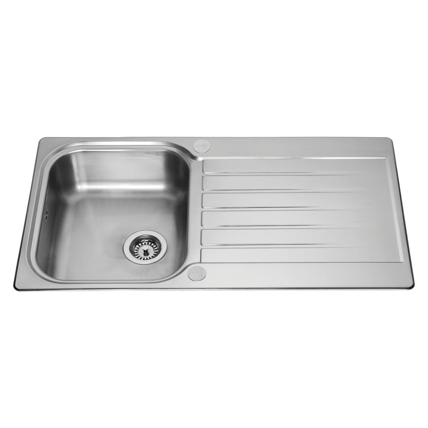 Lamona Ashworth Single Bowl Inset Stainless Steel Kitchen Sink