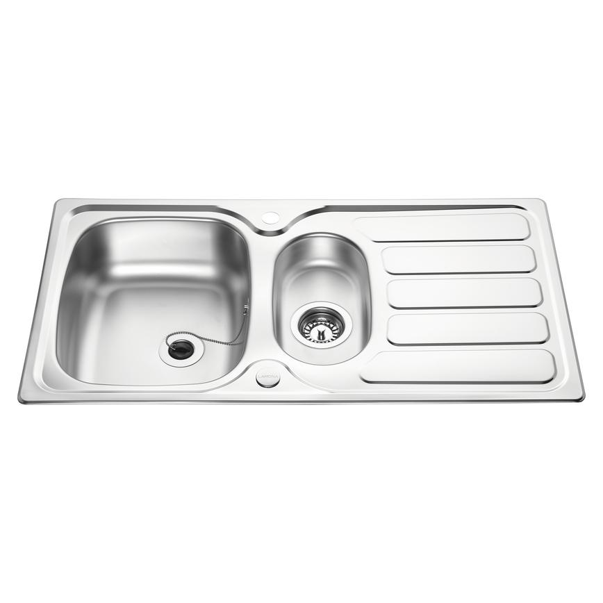 Lamona Drayton 1.5 Bowl Inset Stainless Steel Kitchen Sink