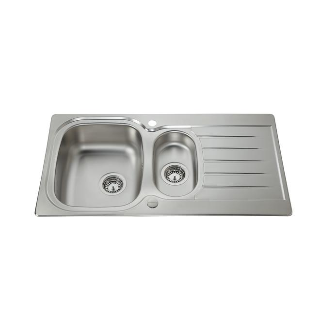 Lamona Arnfield 1.5 Bowl Inset Stainless Steel Kitchen Sink